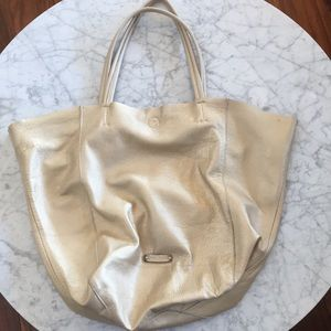 LINEA PELLE Leather Tote HUGE